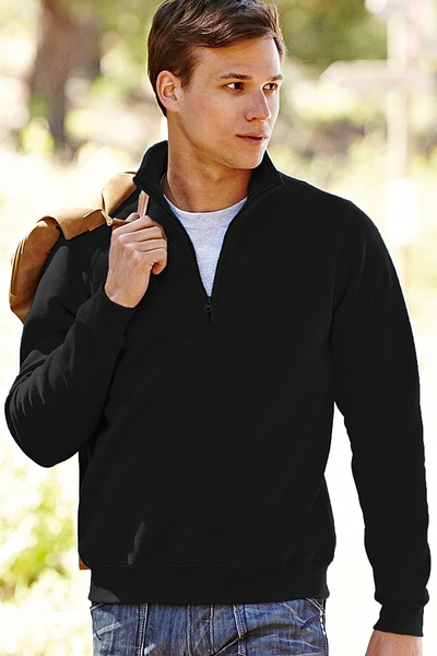 PREMIUM ZIP NECK COLLEGE